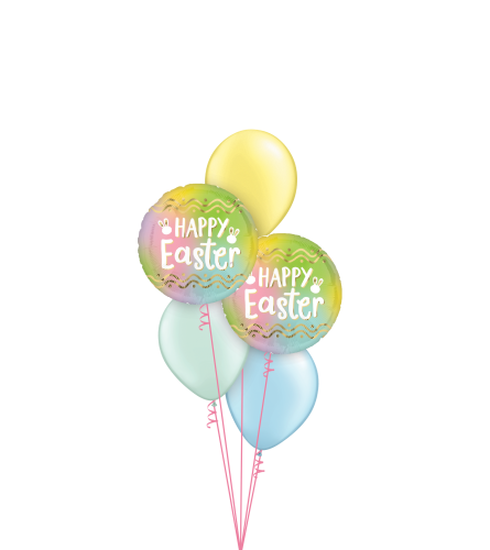 Happy Easter Pastel Ombre Classic Balloon Bouquet