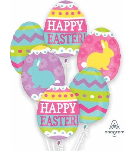 Easter Egg Hunt Extra Fun Foil Balloon Bouquet