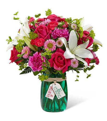 Be Strong & Believe Flower Bouquet