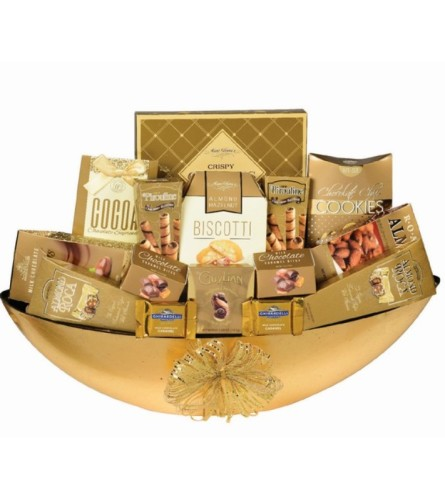 Gold Chocolate Box by O'Flowers
