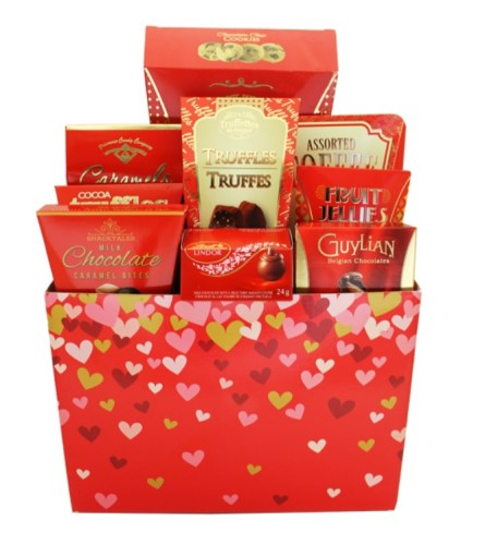 Chocolate Basket With Love by O'Flowers