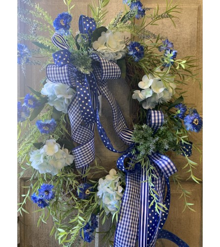 Legendary Blue and White Wreath