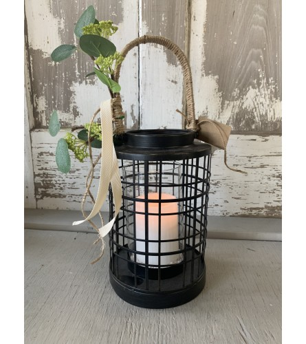 Twine Wrapped Handle Lantern