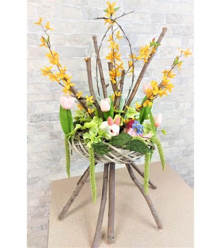 Silk Easter arrangement by O'Flowers
