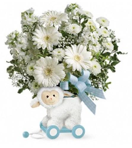 Sweet Little Lamb in Blue