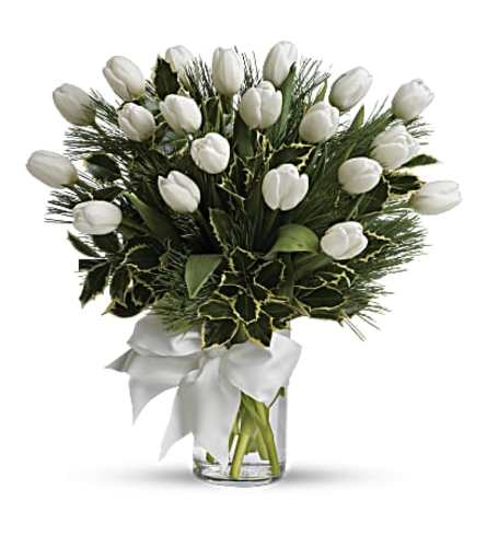 A spray of white tulips