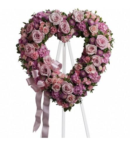 Custom Designed Heart Wreath