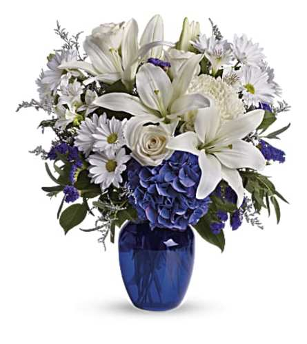Beautiful in Blue Vase Bouquet