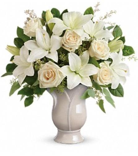 Elegance In a Tulip Vase Bouquet