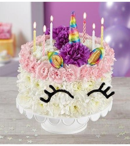THE BIRTHDAY WISHES FLOWER CAKE UNICORN