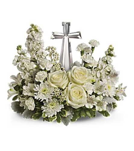 Divine Peace Bouquet with Cross