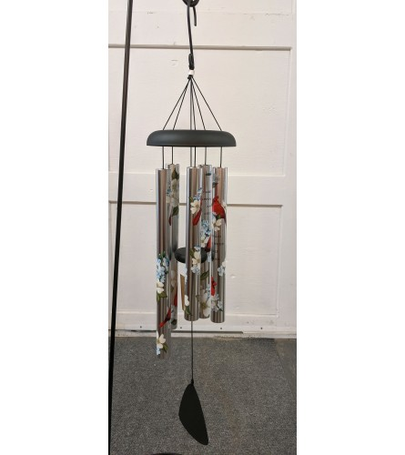 """38 """" Cardinals Appear Wind Chime"""