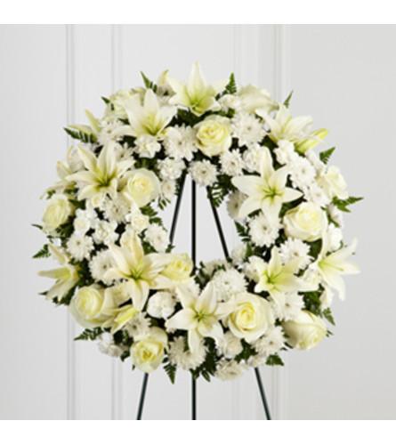 Treasured Tribute Wreath White