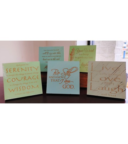 Wooden Enocouragement Signs