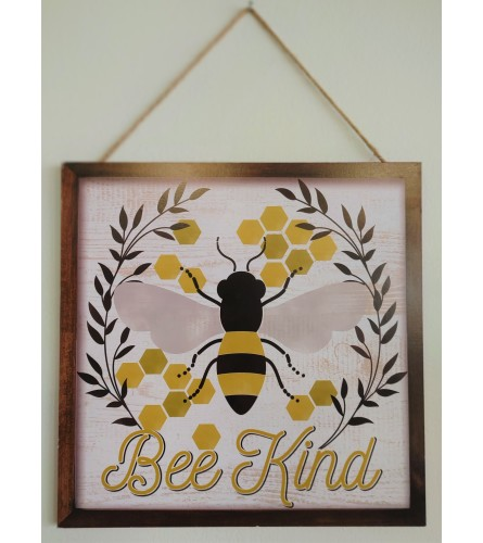 Bee Kind Wall Sign