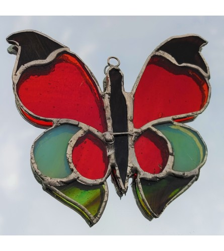 Locally Made Stained Glass Butterfly