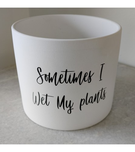 Sometimes I Wet My Plants Pot