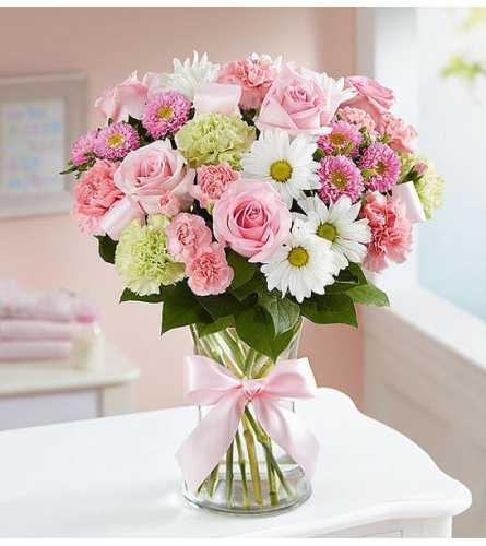 Sweet Pink & White Baby Girl™ Arrangement