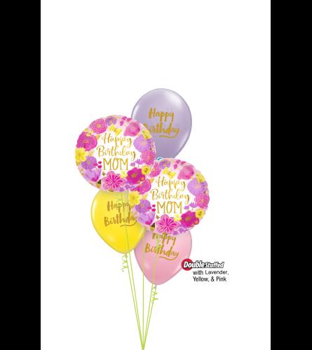 Happy Birthday Mom Classic Confetti Balloon Bouquet