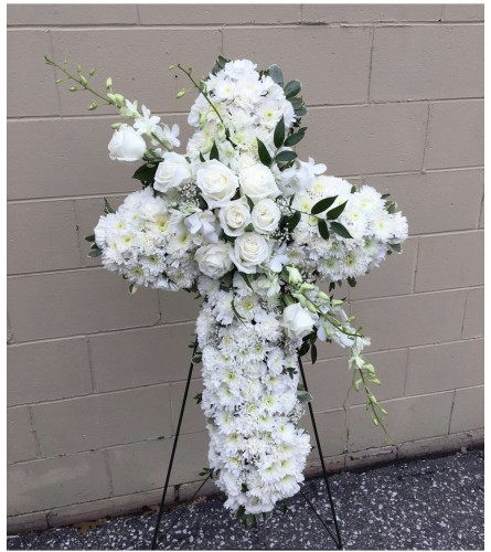 White Cross By Dynamic Flowers