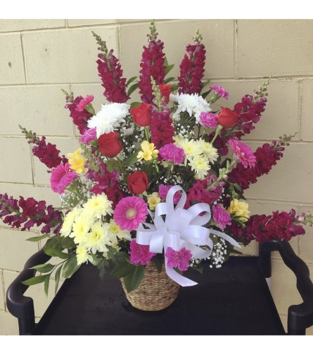 Standing Basket By Dynamic Flowers