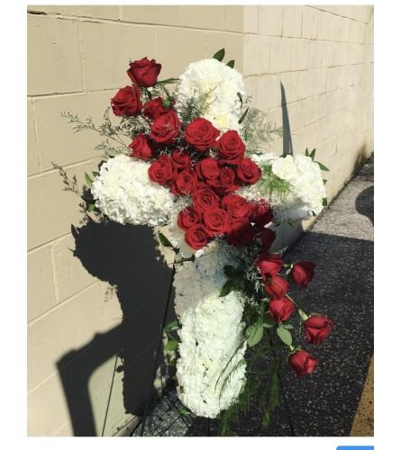 Sympathy Cross By Dynamic Flowers