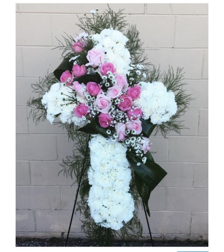 White And Pink Cross