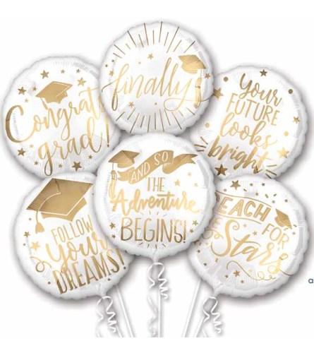 Graduation Messages Extra Fun Foil Bouquet