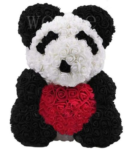 Panda rose bear with red heart