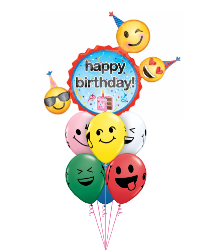 Emoticon Birthday Wishes Awesome Balloon Bouquet