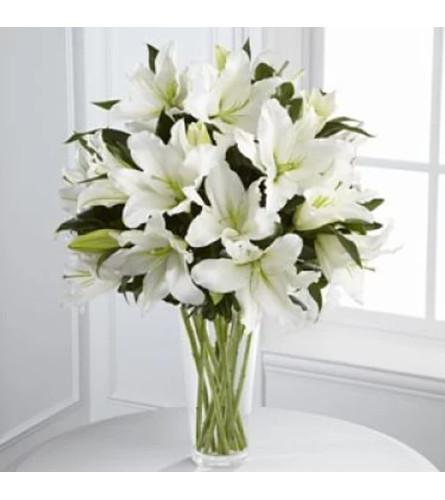 Lovely Light In Your Honor Vase Arrangement