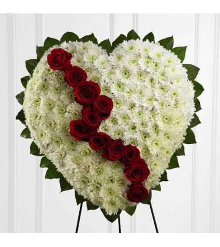 The Broken Heart Standing Wreath