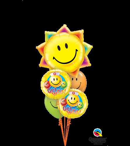 Get Well Cheerful Balloon Bouquet