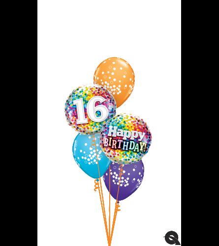 Happy 16th Birthday! Classic Balloon Bouquet