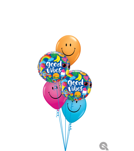 Sending You Smiles & Good Vibes Classic Balloon Bouquet