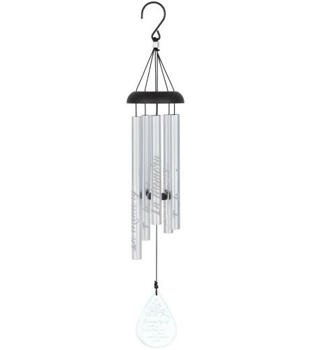 """Chime 24"""" Etched Glass Chime 'In Memory'"""