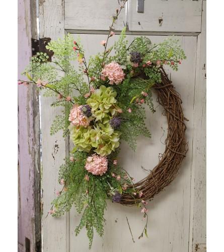 Bright and Fresh Silk Wreath