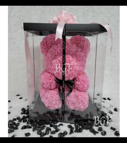 Pink Rose Bear Glamour (Artificial Rose Petals)