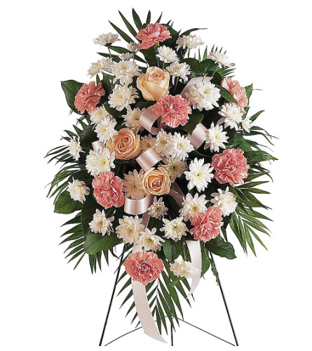 teleflora's gentle thoughts standing spray