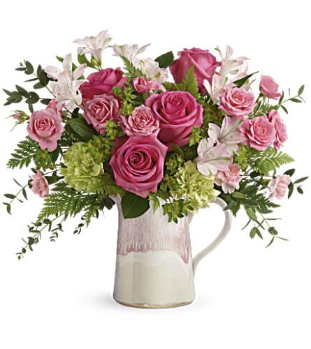 Heart's Pink Stone Bouquet (Teleflora)