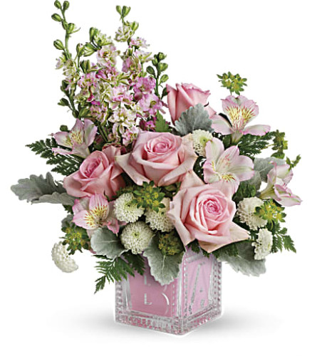 Teleflora's Pink Bundle of Joy Bouquet - Baby Girl