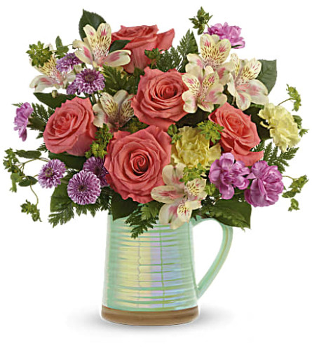 Teleflora's Pour on the Beauty Pitcher