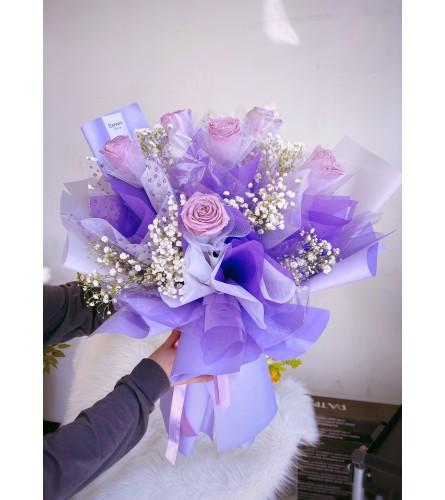 Glitter Lavender bouquet