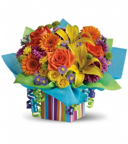 Teleflora's Colorful Rainbow Present