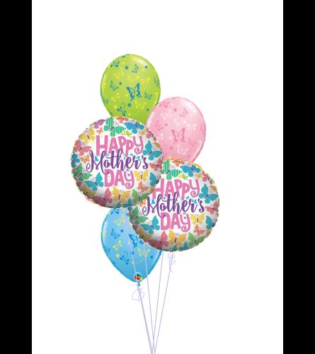 Mother's Day Butterflies Classic Balloon Bouquet