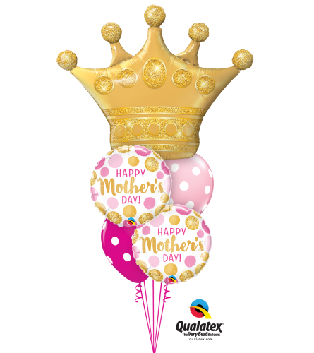 Mother's Day Queen Cheerful Balloon Bouquet