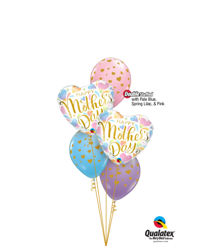 For Mom With Love Classic Confetti Balloon Bouquet