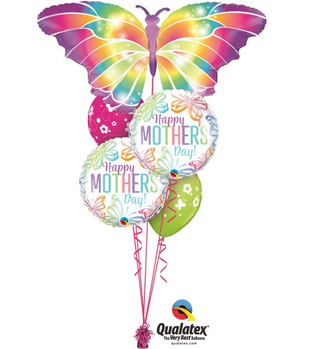 Flutter On Mom Cheerful Balloon Bouquet