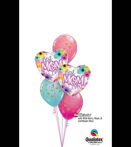 Hearts for Mom Classic Confetti Balloon Bouquet