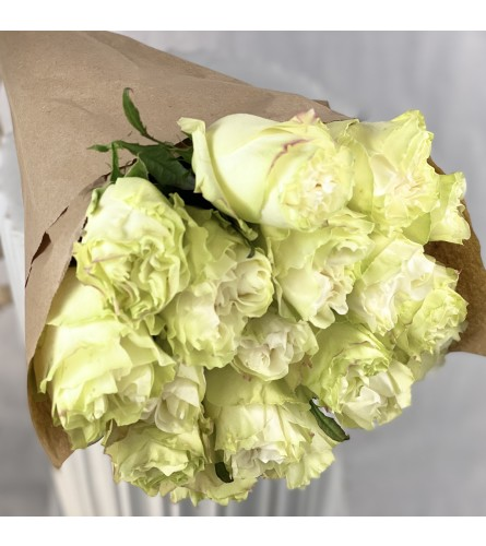 Farm Fresh Long Stemmed White Roses